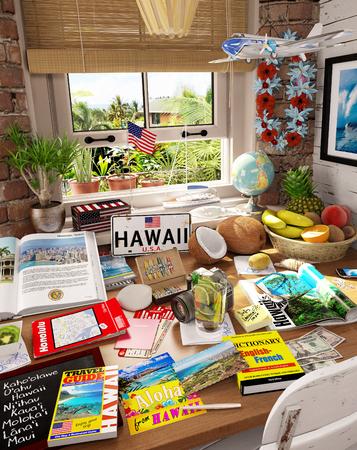 # 3 Hawaii, USA, Urlaubsziel Standard-Bild - 81338960