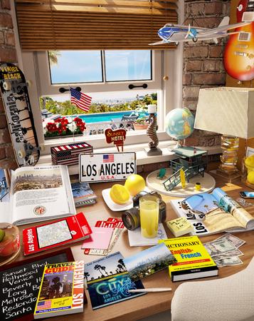 # 7 Los Angeles, USA, Urlaubsziel Standard-Bild - 81338956