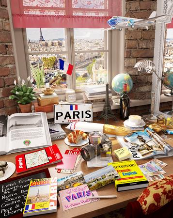 # 10 Paris, Frankreich, Urlaubsziel Standard-Bild - 81338958