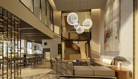 Moderne woonkamer Stockfoto