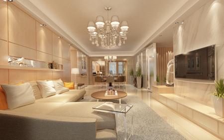 Modernes Wohnzimmer Standard-Bild - 95557553