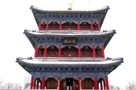 overlook: Xinjiang urumqi hongshan Overlook pavilion.