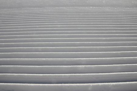 A closeup of a freshly groomed ski track. Stock Photo - 11820278