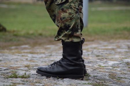 batallón: Primer plano, ejército, botas