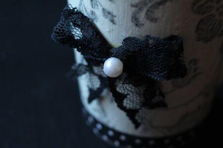 decoupage: black and white decoupage mug