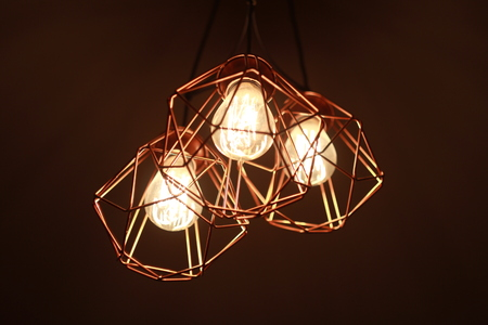 chandelier: chandelier with three light bulbs