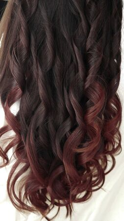 Close-up Long healthy red colored hair