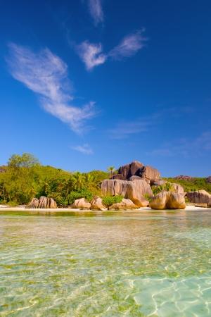 Beautiful beach in Seychell island photo