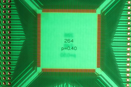 ttl: green PCB board with place for ICs