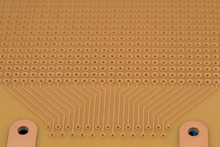 ttl: amber PCB board with place for D-Sub