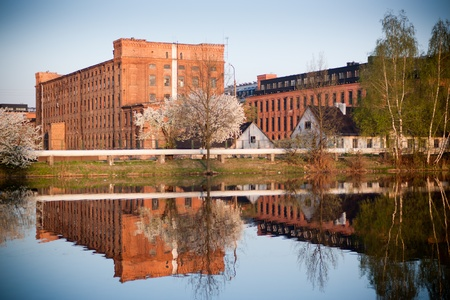 modernization: Old textile factory as a lofts in Lodz