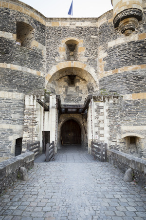the loire: Towers and walls of old French medieval city, Loire valley