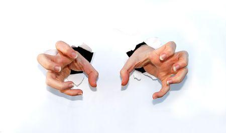 cut wrist: claw hands