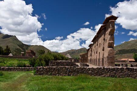 Ruins of temple in Peru photo