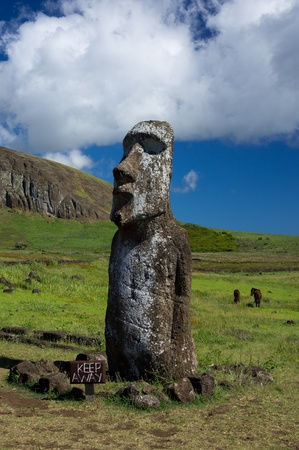 moai: Easter island Stock Photo