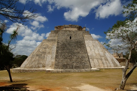 Mayan pyramid in Mexico photo