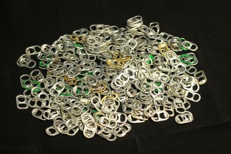 ring pull: Aluminum ring pull  Recycle