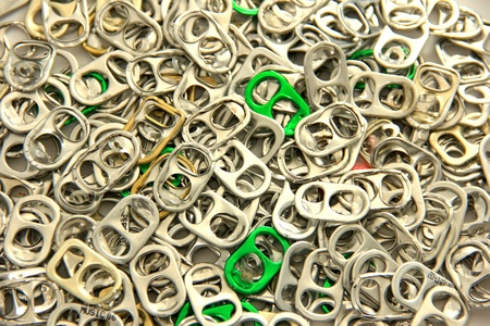 ring pull: Aluminum ring pull, Recycle  Stock Photo
