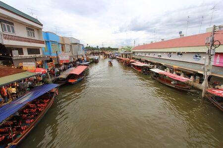 amphawa: Floating Market , Amphawa , Thailand. Editorial