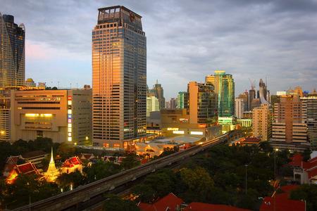 amasing: bangkok thailand view on the sunrise