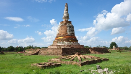 historic site: Stupa Ayudhya Art historic site of Thailand