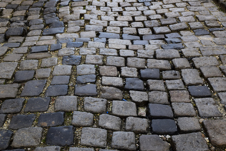 Cobblestone streets and old walking