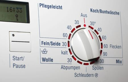 Washing machine - start button and temerature dial