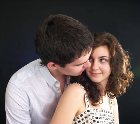 sexual couple: Portrait of beautiful sexual couple in the party