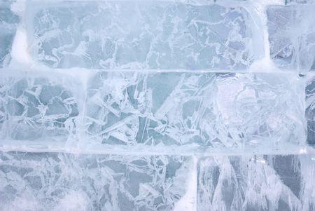 ice blocks: Closeup view of Ice brick wall, background