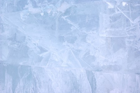 Closeup view of Ice wall, background Stock Photo