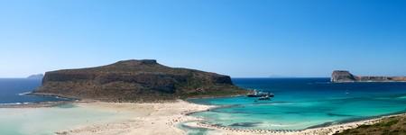 Scenic view of Balos bay (Gramvousa, Crete, Greece) photo