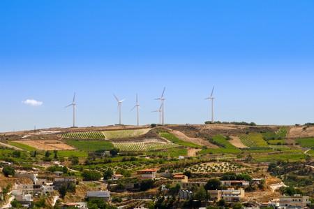 Power generating windmills photo