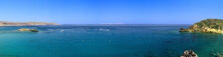 Panoramic view of Bay in mediterranean sea