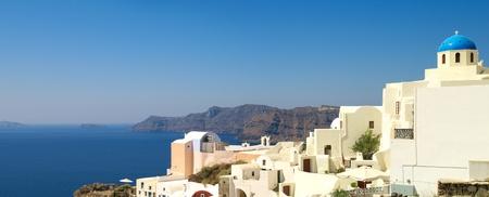 Panoramic view to the beautiful church and sea photo