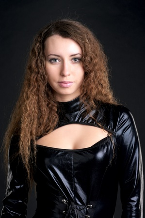 Portrait of sexy woman in skintight latex Stock Photo - 8980287