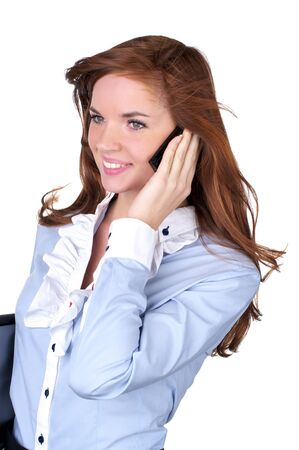 proffesional: Cute business woman talking on cellphone