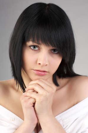 Closeup portrait of young beautiful sensual woman Stock Photo - 9807617