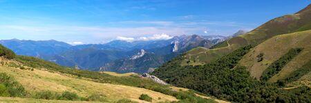 Panoramic view of Cantabrian Mountains, Asturias. Spain. photo