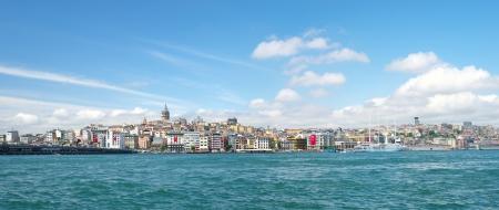 Panoramic view to Galata tower of Istanbul, Turkey.