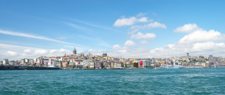 Panoramic view to Galata tower of Istanbul, Turkey. photo