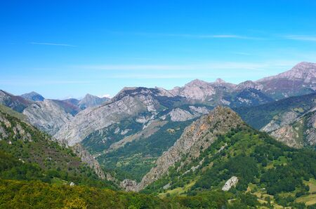 cantabrian: Beautiful Cantabrian mountain landscape, Spain. Stock Photo
