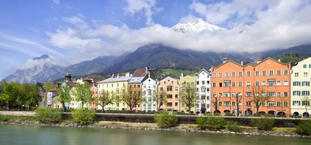 innsbruck: View to the historical Innsbruck houses in Innsbruck