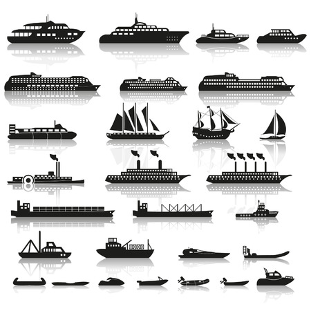 motorboat: Set of ships and boats