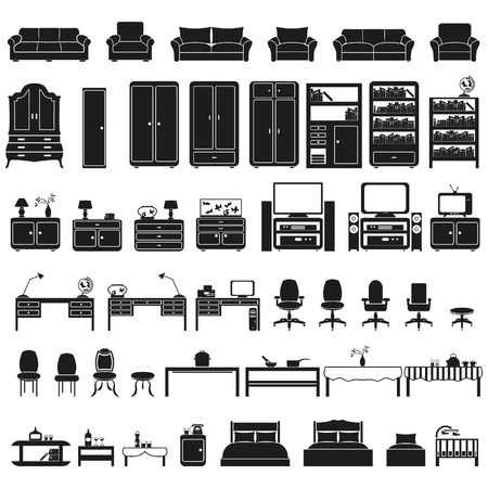office furniture: Furniture set Illustration