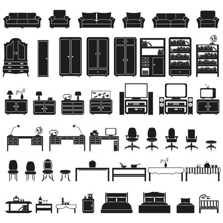 Furniture set Illusztráció