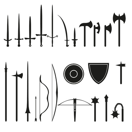 Medieval weapons set Vector