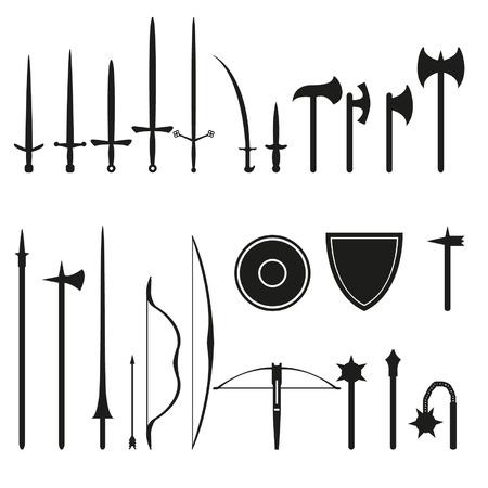 Set middeleeuwse wapens Stockfoto - 24660126