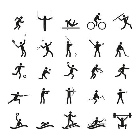 bieżnia: Zestaw ikon sportu  Ilustracja