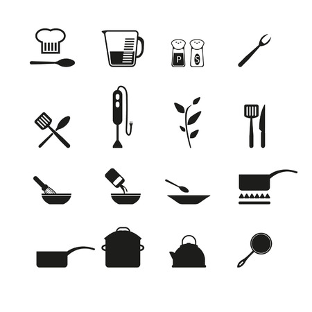 measuring spoon: Cooking icons Illustration