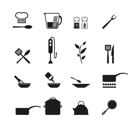 Koken pictogrammen Stockfoto - 24703446